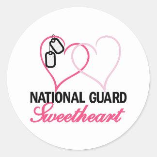 National Guard Round Sticker