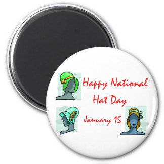 National Hat Day January 15 6 Cm Round Magnet