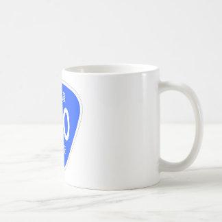 National highway 390 line - national highway sign coffee mug
