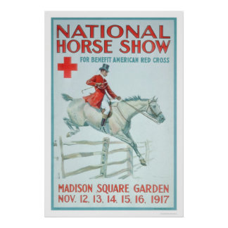 National Horse Show for the Red Cross (US00281) Poster