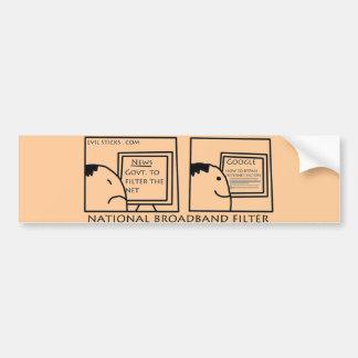 National Internet Filter Bumper Sticker