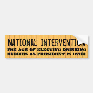 National Intervention Car Bumper Sticker