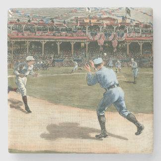 National League Baseball Game 1886 Stone Coaster