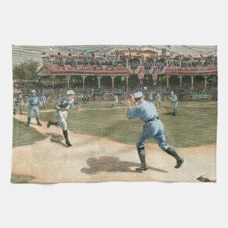 National League Baseball Game 1886 Tea Towel