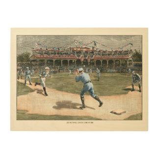 National League Baseball Game 1886 Wood Print