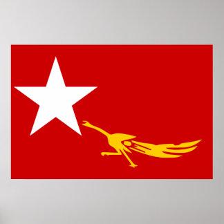 National League For Democracy Myanmar flag Print