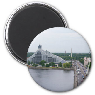 National Library of Latvia, Riga 6 Cm Round Magnet