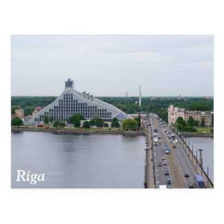 National Library of Latvia, Riga Postcard