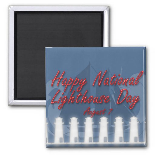 National Lighthouse Day Magnet August 7
