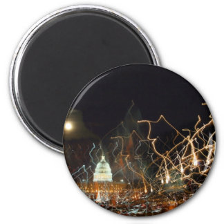 National Mall celebrating holiday photo 6 Cm Round Magnet