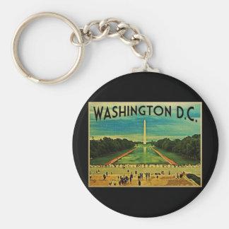National Mall Washington D.C. Basic Round Button Key Ring