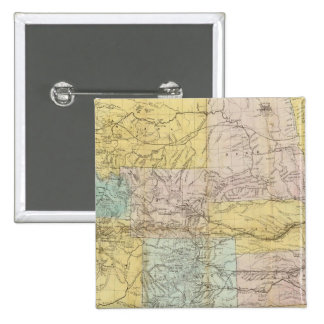 National Map Of The Territory Of The United States 15 Cm Square Badge