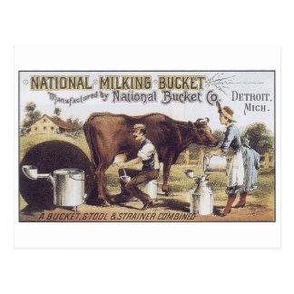 National Milking Bucket Detroit Michigan Post Cards