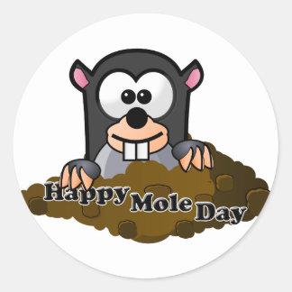 National Mole Day Round Sticker