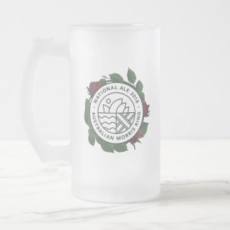 National Morris Ale Glass Tankard Frosted Glass Beer Mug