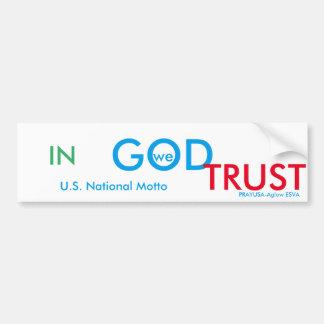 National motto bumper-CPCF Bumper Sticker