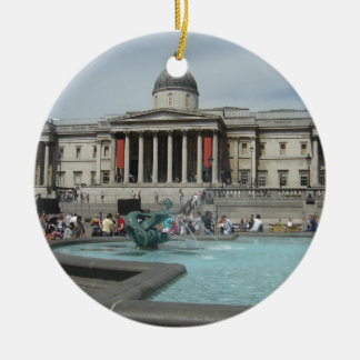 National Museum - Trafalgar Square Round Ceramic Decoration