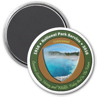 National Park Centennial Magnet Yellowstone 3 In