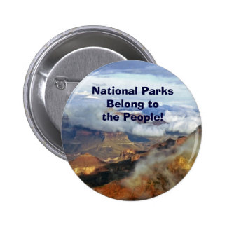 National Parks Belong to the People Button Pin