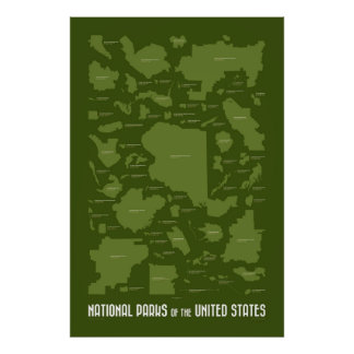 National Parks of the United States Poster