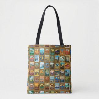 National Parks Pattern Tote Bag