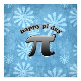 "National Pi Day Pi Symbol for Math Nerds March 14 5.25"" Square Invitation Card"