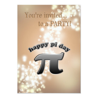 National Pi Day Pi Symbol for Math Nerds March 14 5x7 Paper Invitation Card