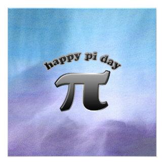 National Pi Day Pi Symbol for Math Nerds March 14 Custom Invites