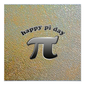National Pi Day Pi Symbol for Math Nerds March 14 Personalized Invites
