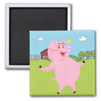 National Pig Day March 1st Square Magnet