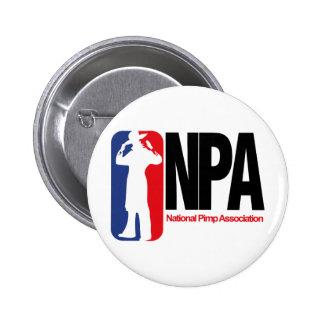 National Pimp Association 6 Cm Round Badge