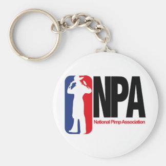 National Pimp Association Basic Round Button Key Ring