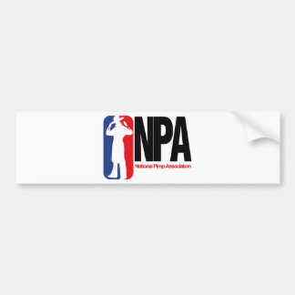 National Pimp Association Car Bumper Sticker