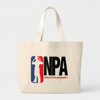 National Pimp Association Jumbo Tote Bag