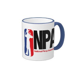 National Pimp Association Ringer Coffee Mug