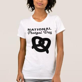 National Pretzel Day (Black) T-Shirts