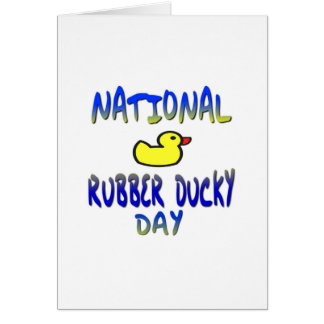 National Rubber Ducky Day Card