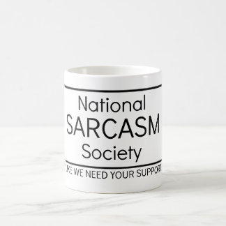 National Sarcasm Society Coffee Mug