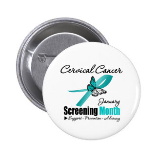 National Screening January Month - Cervical Cancer 6 Cm Round Badge