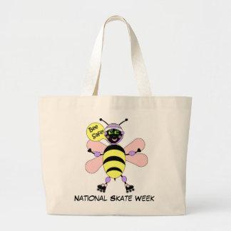 National Skate Week - Bee Safe Jumbo Tote Bag