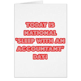 National 'Sleep With an Accountant' Day Card