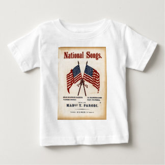 National Songs Vintage Sheet Music Baby T-Shirt