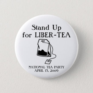 National Tea Party 6 Cm Round Badge