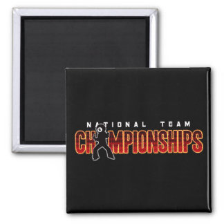 National Team Championships 2 Square Magnet