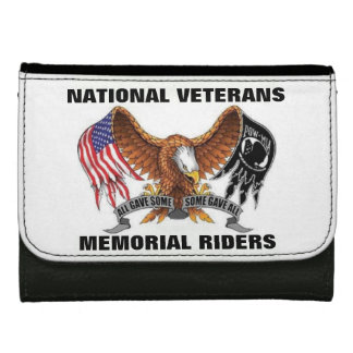 NATIONAL VETERANS MEMORIAL RIDERS LEATHER WALLET