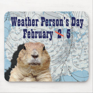 National Weather Person's Day February 5 Mouse Pad