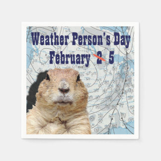 National Weather Person's Day February 5 Paper Napkin