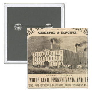 National White Lead and Zinc Company 15 Cm Square Badge