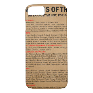 Nations of the World list case (iPhone 7)
