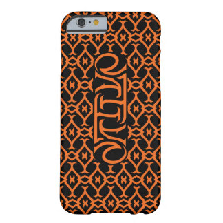 Native Ambigram (Orange) Barely There iPhone 6 Case